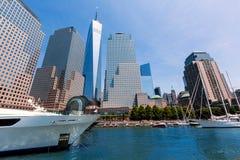 Freedom Tower del puerto Manhattan Nueva York Fotos de archivo libres de regalías
