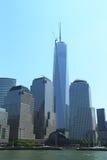 Freedom Tower e centro finanziario del mondo Fotografia Stock Libera da Diritti