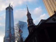 Freedom Tower en Andere Gebouwen Van de binnenstad Stock Foto's