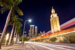 Freedom Tower en el crepúsculo en Miami Fotografía de archivo