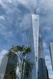 Freedom Tower en Lower Manhattan en Nueva York fotografía de archivo