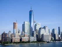 Freedom Tower et secteur financier New York City Photo stock