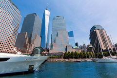 Freedom Tower från hamnen Manhattan New York Royaltyfria Foton