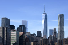 Freedom Tower i i stadens centrum New York City Royaltyfria Bilder