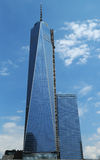 Freedom Tower i Lower Manhattan Arkivbilder