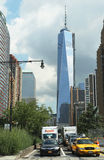 Freedom Tower i Lower Manhattan Royaltyfri Foto