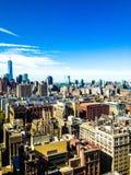 Freedom Tower i Manhattan Royaltyfria Foton
