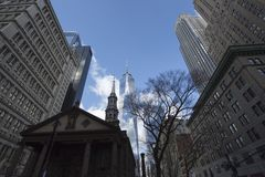 Freedom Tower i Manhattan New York arkivbild