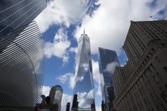 Freedom Tower i Manhattan New York royaltyfria bilder