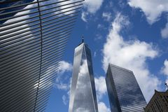 Freedom Tower i Manhattan New York royaltyfri fotografi