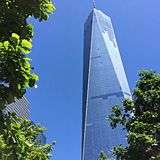 Freedom Tower i Manhattan, NYC Royaltyfria Bilder