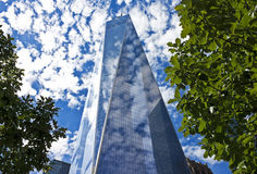 Freedom Tower with leaves, New York City Stock Photography