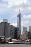 Freedom tower in lower Manhattan Stock Photos