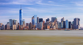 The Freedom Tower and Lower Manhattan Skyline Stock Image