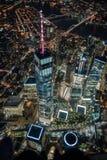 Freedom Tower na noite fotos de stock