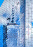 Freedom Tower NYC Reflection Abstract Stock Images