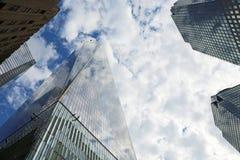 Freedom Tower och andra skyskrapor Royaltyfri Fotografi