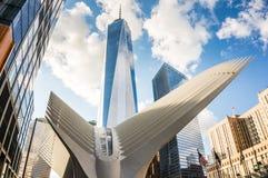Freedom Tower och Oculus Royaltyfri Fotografi