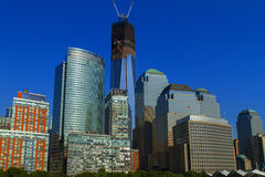Freedom Tower och World Trade Center Royaltyfri Foto