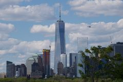 Freedom Tower among skyscrapers in Manhattan, New York Stock Image
