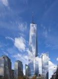 Freedom Tower in Stad de van de binnenstad van New York Stock Afbeelding