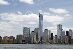 Freedom Tower. The building of the Freedom Tower finally tops off at 1776 feet high replacing the World Trade Center attacked on 911 Stock Photos