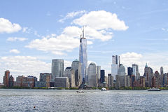 Freedom Tower. The building of the Freedom Tower finally tops off at 1776 feet high replacing the World Trade Center attacked on 911. This is now the tallest Stock Photos