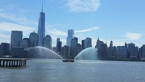 Freedom tower. View from jersey city Royalty Free Stock Photos