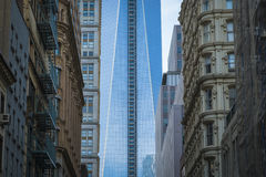 Freedom Tower, World Trade Center, Bodennullpunkt, New York City Stockfotos