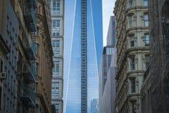 Freedom Tower, World Trade Center, maalde Nul, de Stad van New York Stock Foto's