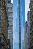 Freedom Tower, World Trade Center, maalde Nul, de Stad van New York Stock Afbeeldingen