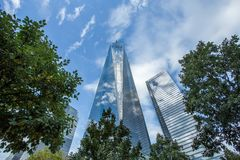 Freedom Tower 1 WTC in Manhattan. One World Trade Center is the tallest building in the Western Hemisphere and the third-tallest building in the world Stock Images