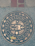 The Freedom Trail of Boston, Massachusetts. The Freedom Trail is a 2.5-mile-long path through downtown Boston, Massachusetts that passes by 16 locations Royalty Free Stock Photography