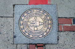 The Freedom Trail Sign Stock Photos