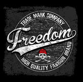 Freedom typography tee graphic design Royalty Free Stock Photo