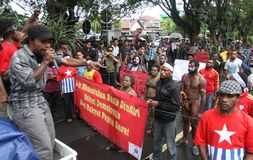 Freedom of west papua Stock Images