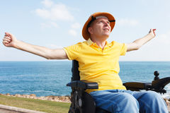 Freedom in wheelchair Royalty Free Stock Images