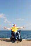 Freedom in wheelchair Stock Photos