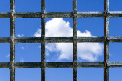 Freedom wish from prison Stock Photography