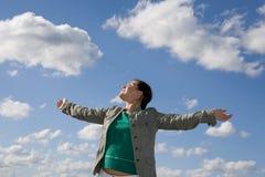 Freedom woman stock photo
