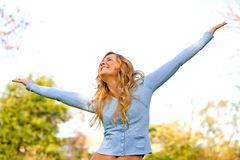Freedom woman Stock Images