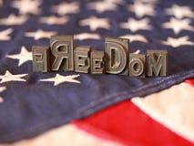 Freedom Word Art. In Printer Blocks royalty free stock photography