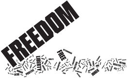 Freedom word cloud stock illustration