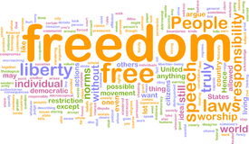 Freedom word cloud Royalty Free Stock Photography