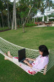Freedom of Working Anywhere Royalty Free Stock Photo