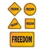 Freedom yellow signs. Suitable for signs and symbols Stock Photo