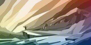 Freedoom góry krajobraz Fotografia Stock