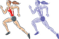 Freeflowing runner Stock Photos