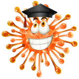Freeform with graduation cap. Illustration Stock Image