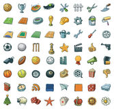 Freehand Assorted Icons Royalty Free Stock Photography